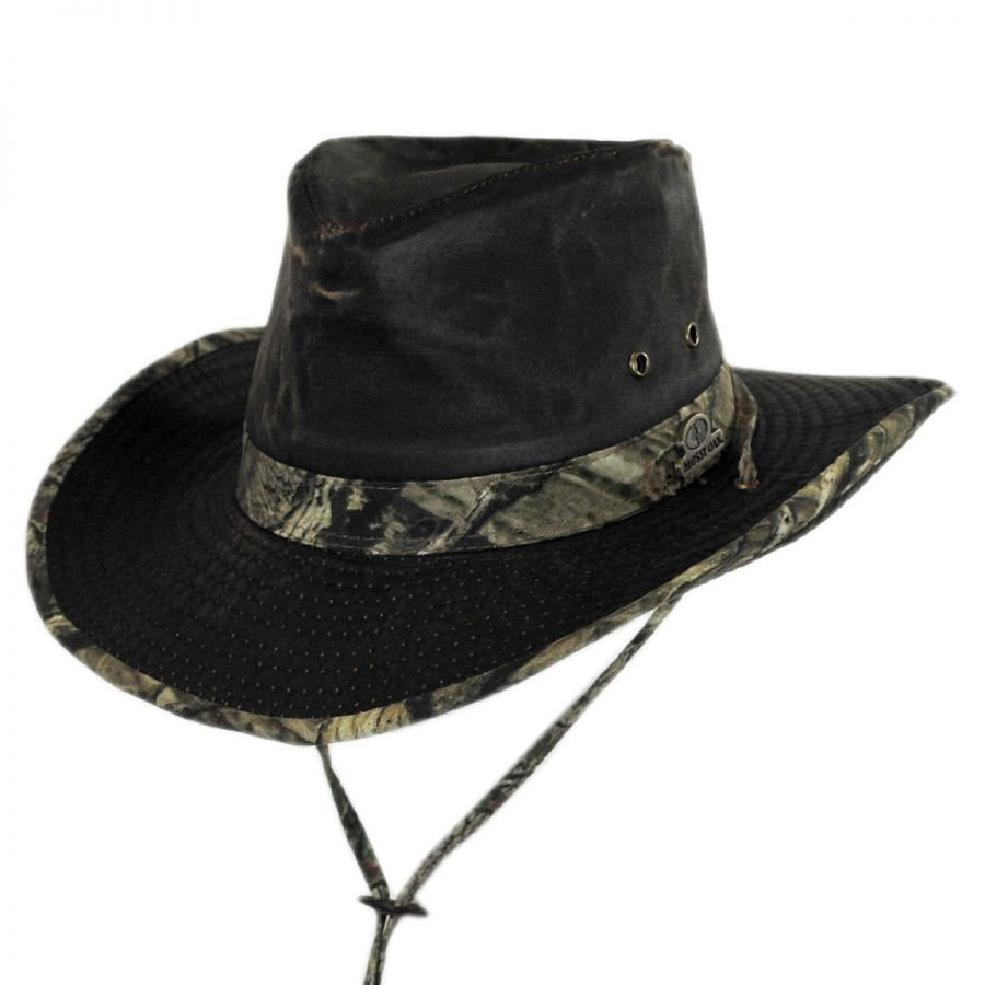 Mossy Oak Infinity Camo Weathered Cotton Outback Hat