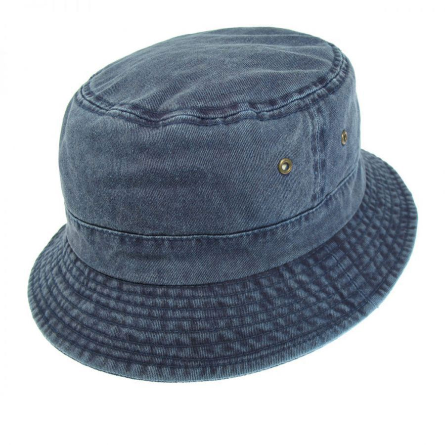 Village Hat Shop VHS Cotton Bucket Hat - Navy Bucket Hats fdf7d18127f