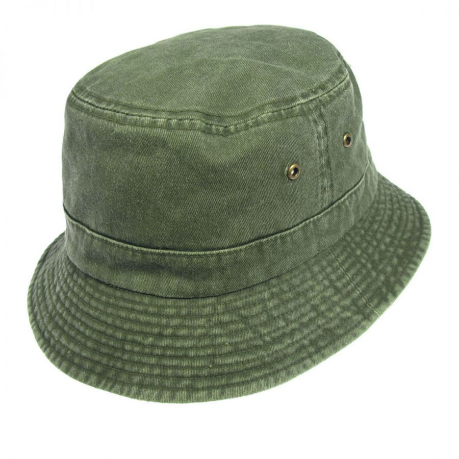 612635575b7fcc Village Hat Shop VHS Cotton Bucket Hat - Olive Bucket Hats