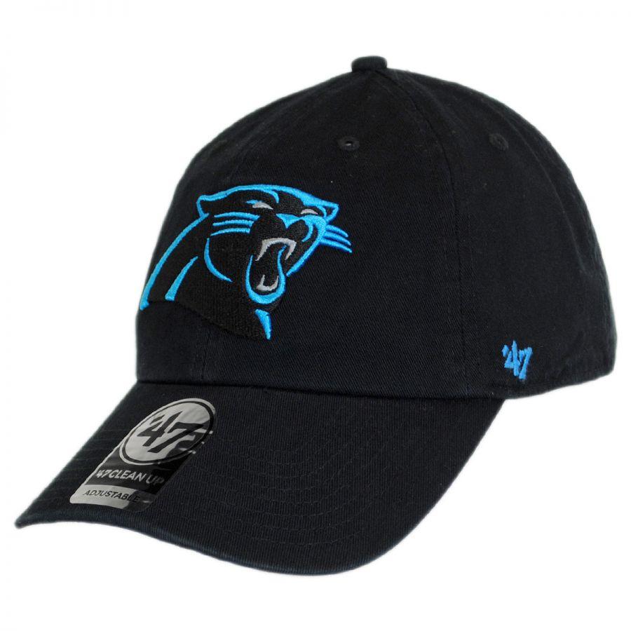 47 Brand Carolina Panthers Nfl Clean Up Strapback Baseball