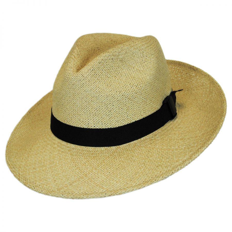 San Francisco Hat Co. Folding Panama Straw Fedora Hat Straw Fedoras fa292ed3793