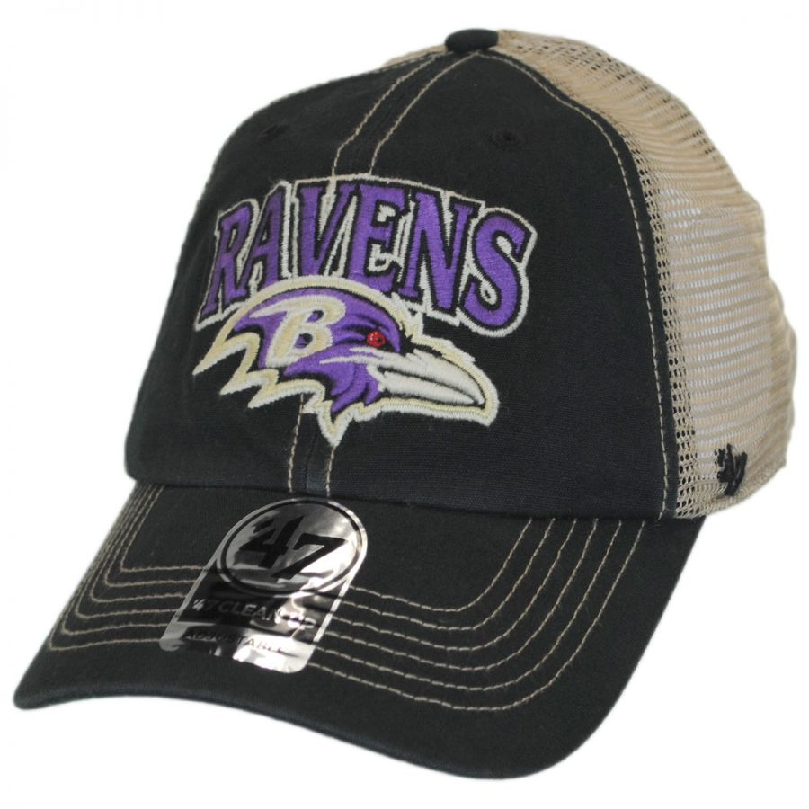 a469f50f37b 47 Brand Baltimore Ravens NFL Tuscaloosa Mesh Fitted Baseball Cap ...