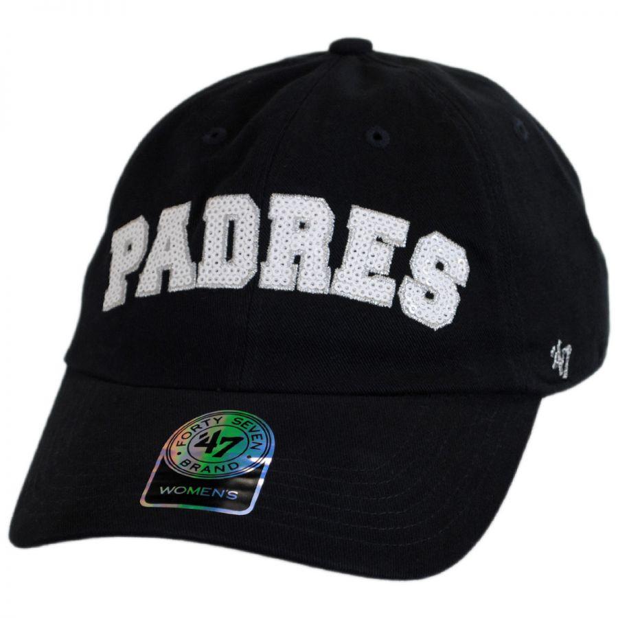 eac5584e01aaa3 47 Brand San Diego Padres MLB Natalie Sparkle Baseball Cap MLB ...