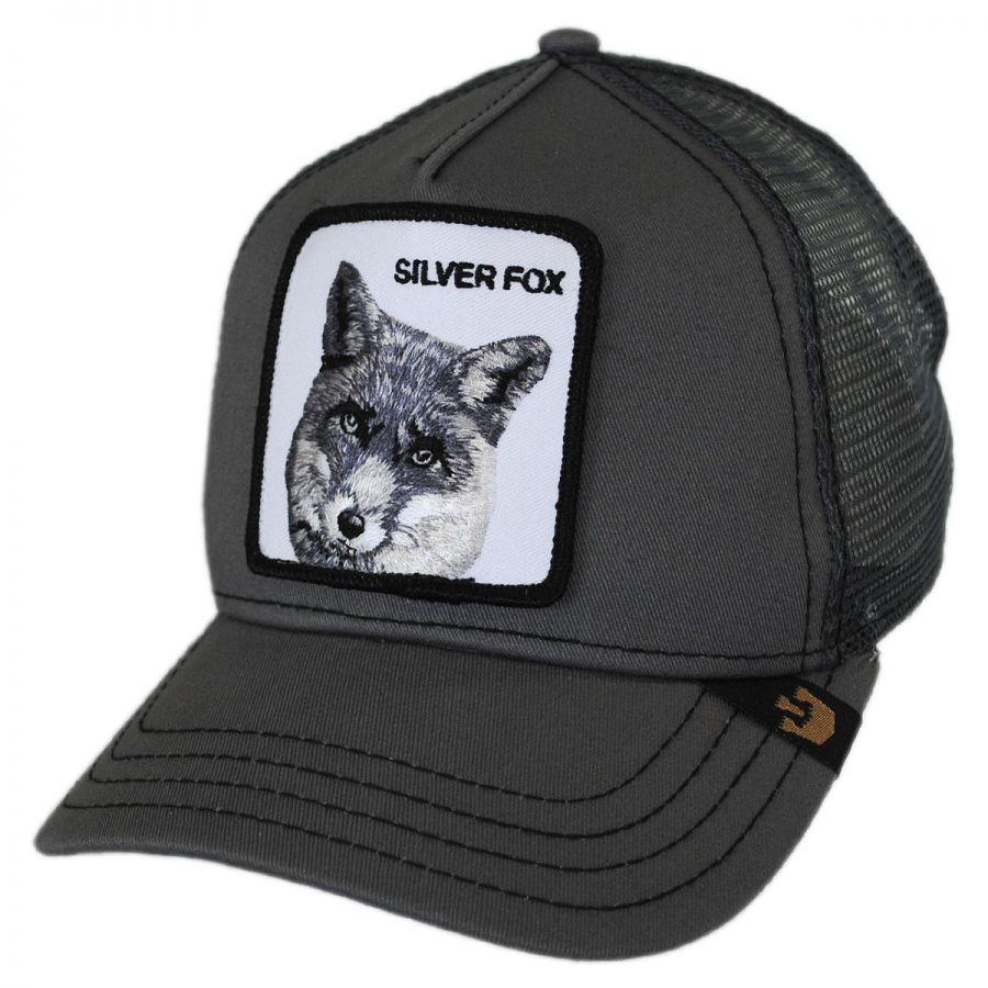 Goorin Bros Silver Fox Mesh Trucker Snapback Baseball Cap Snapback Hats 8c2ee1a31cb
