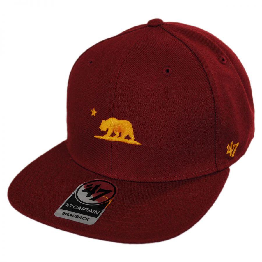 47 Brand Mini Cali Bear Snapback Baseball Cap All Baseball Caps 7b2117780fb