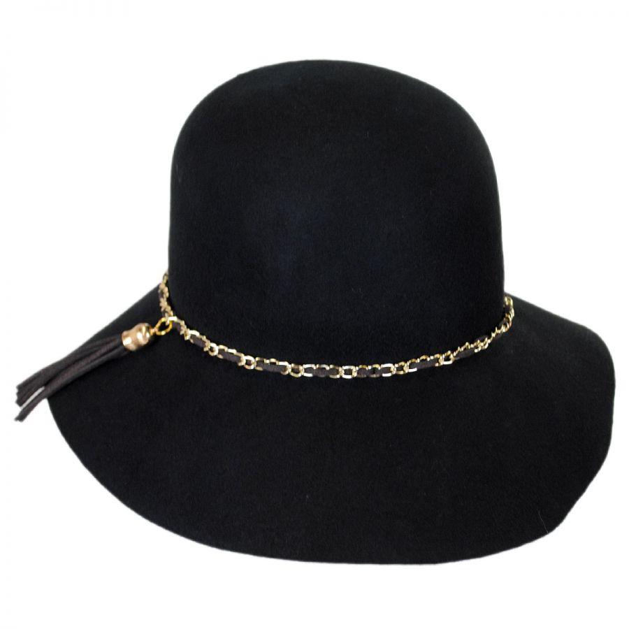 7ca0fa452d8 Callanan Hats Chain and Tassel Wool Felt Cloche Hat Cloche   Flapper ...