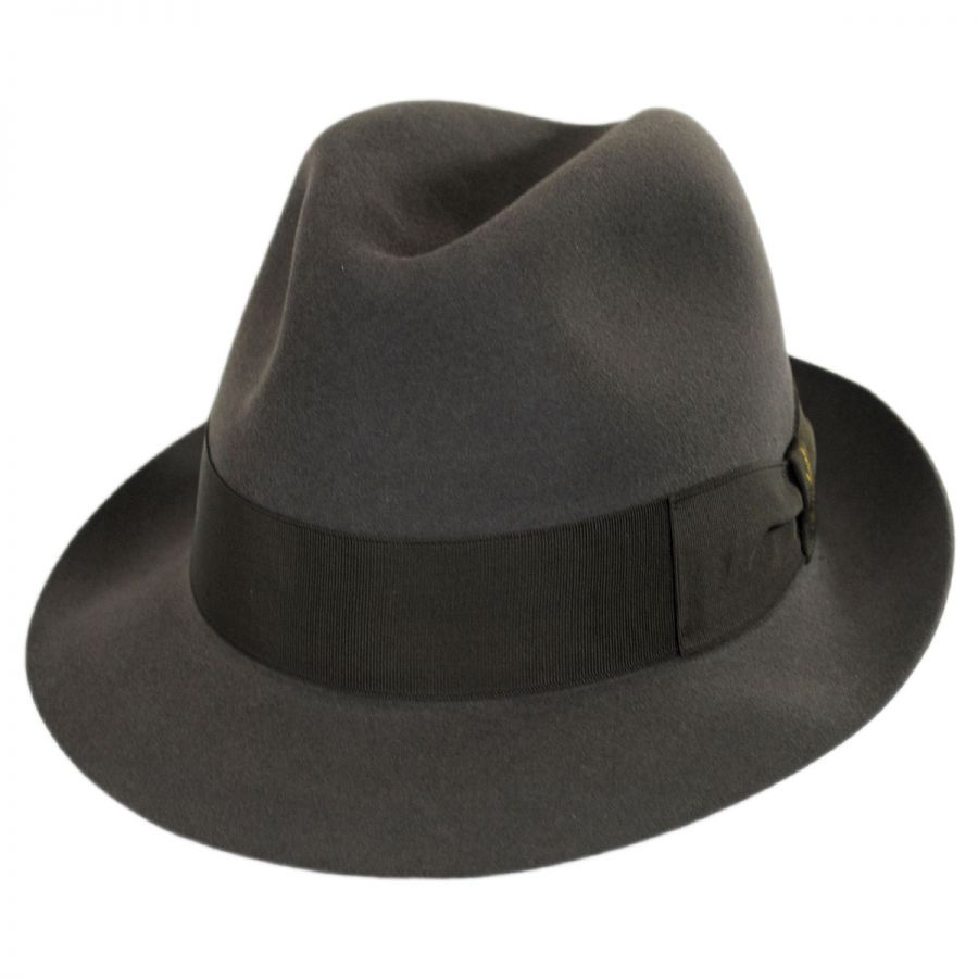 ce0ee79fad24a Borsalino Tasso Fur Felt Stingy Brim Fedora Hat Fur Felt