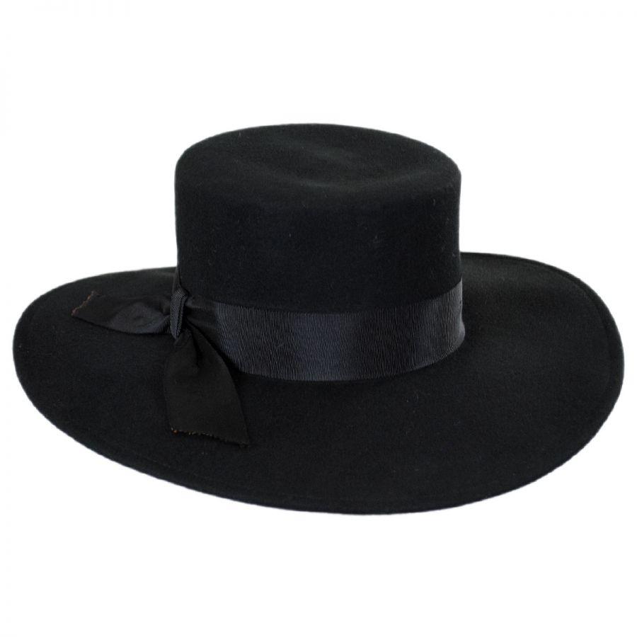 jeanne simmons wide brim wool felt bolero hat casual hats