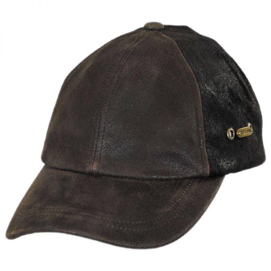 stetson weathered leather baseball cap blank baseball caps
