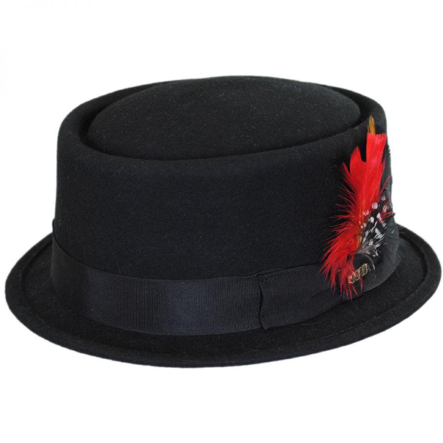 scala wool felt pork pie hat pork pie hats. Black Bedroom Furniture Sets. Home Design Ideas