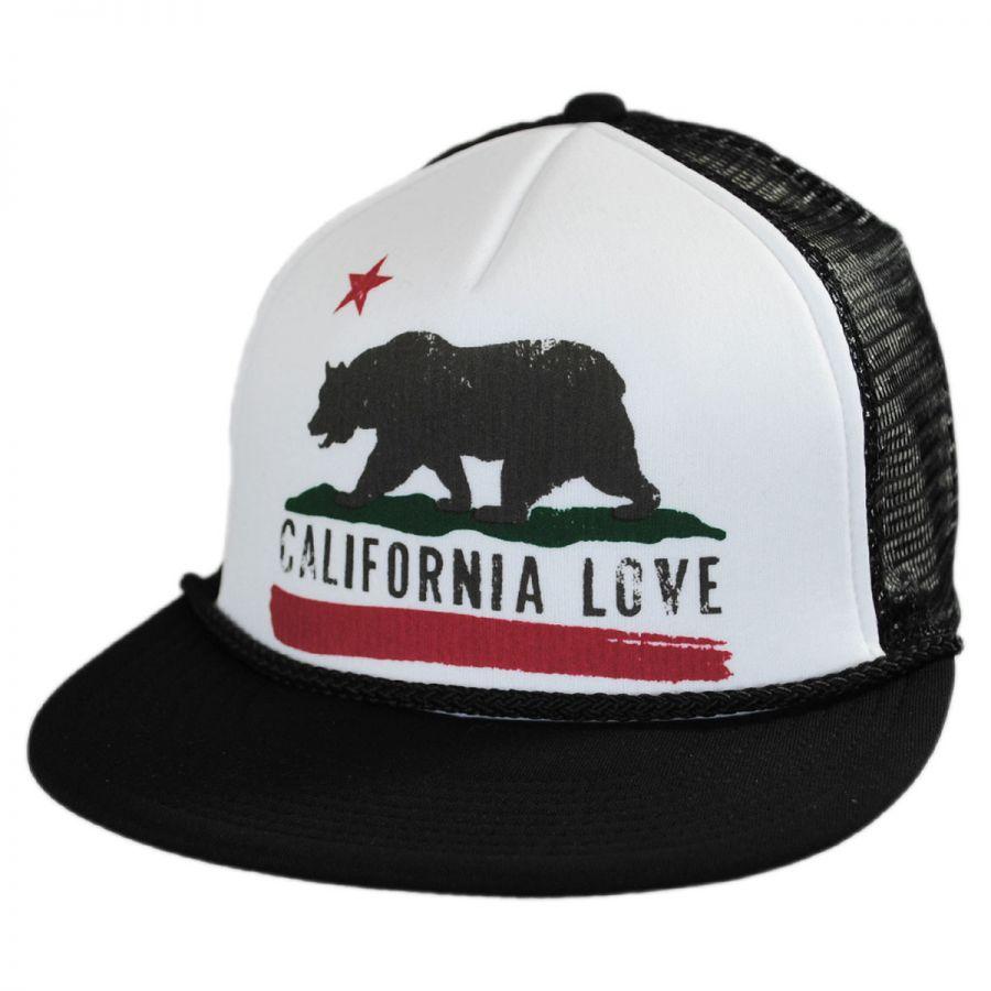 hat co california flat bill trucker snapback