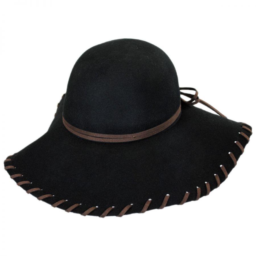 Brooklyn Hat Co Anvi Whipstitch Wool Felt Floppy Hat Casual Hats 8ceb017791f7