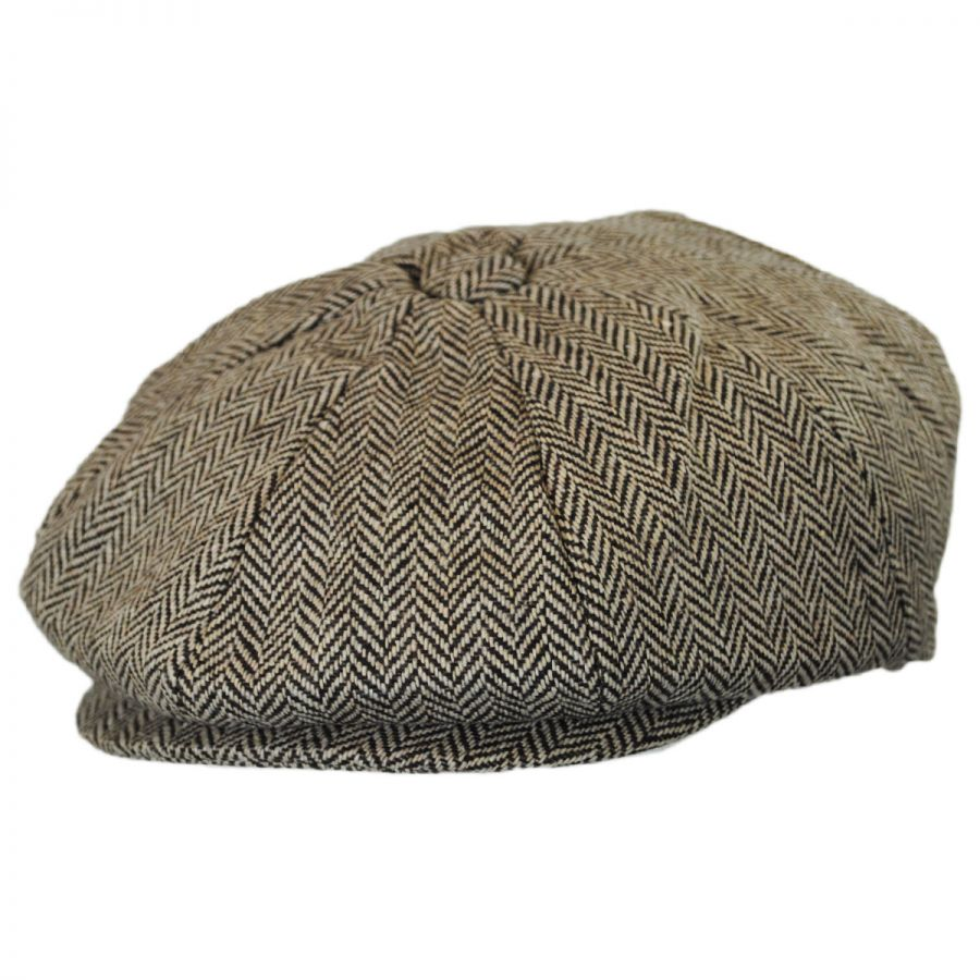 Jaxon Hats Kids  Herringbone Wool Blend Newsboy Cap Kids Flat Caps d5e7b3f139c