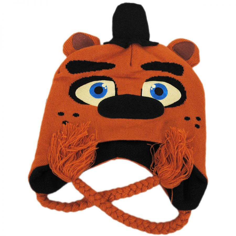 Five Nights at Freddy s Freddy Peruvian Knit Beanie Hat Beanies aeaa766ab8d