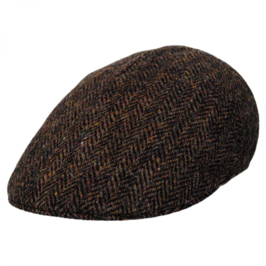 7bc2b0907 Herringbone Harris Tweed Wool Ascot Cap