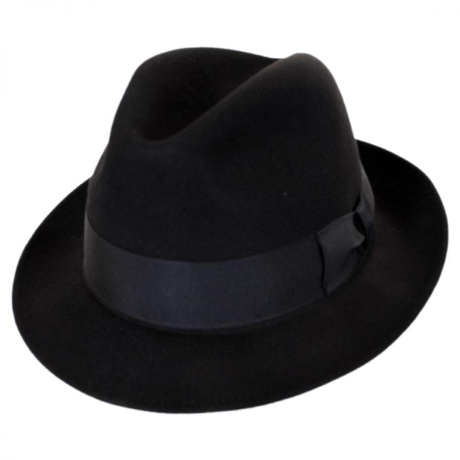 Stefeno Ultimo Beaver Fur Felt Fedora Hat Fur Felt 7e0688cf06f