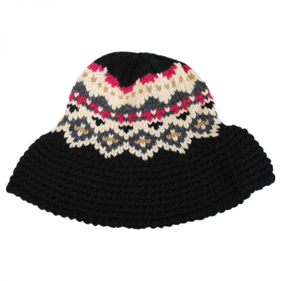 Knitted Bucket Hat Pattern : Jeanne Simmons Fairisle Knit Bucket Hat Bucket Hats