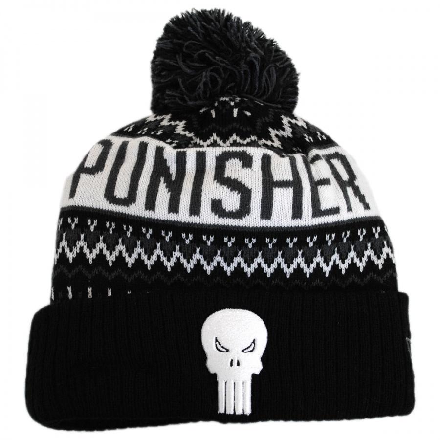New Era Marvel Comics Punisher Winter Knit Beanie Hat Animation ... dbdb16e3dcd
