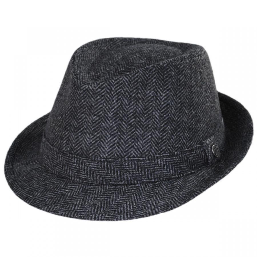 Jaxon Hats Herringbone Wool Trilby Fedora Hat Stingy Brim   Trilby 9fa33011f24