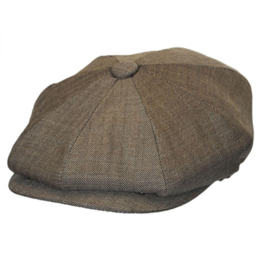 6a155eff72d Jaxon Hats Mini Herringbone Wool Newsboy Cap Newsboy Caps