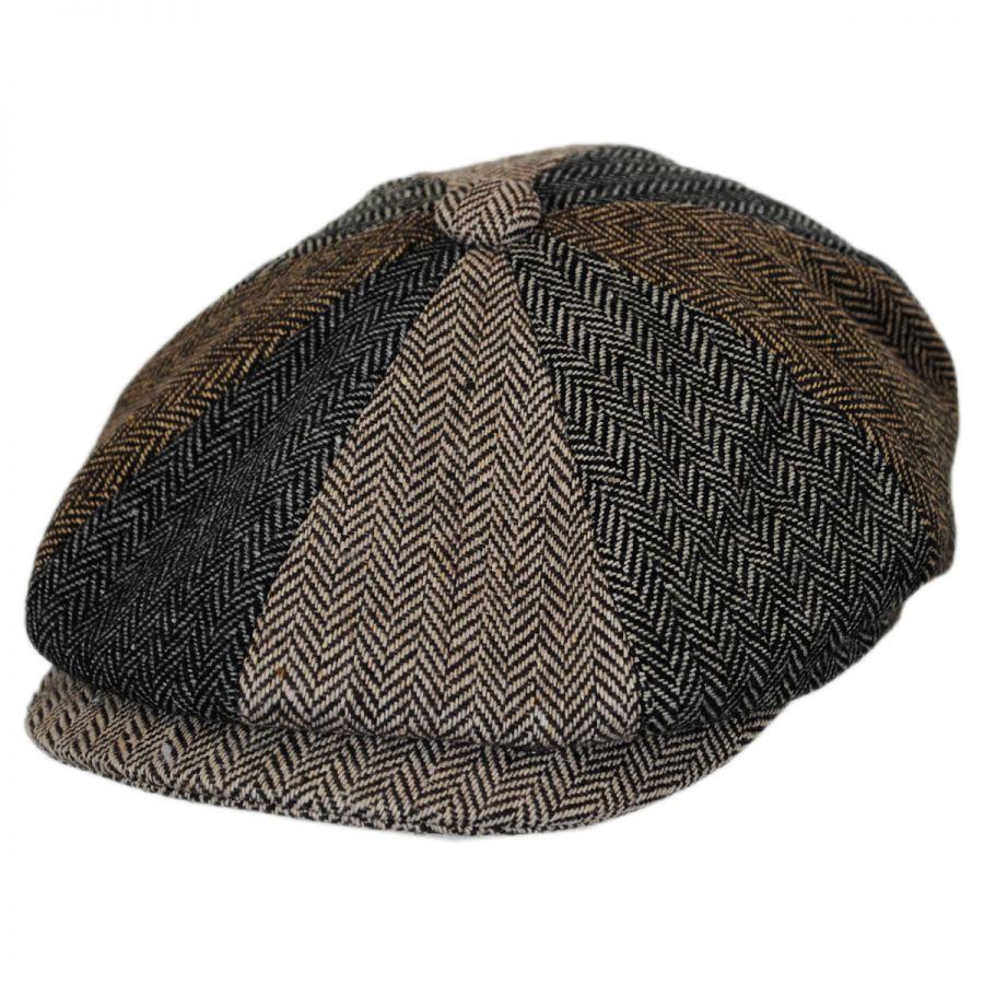 c7d58f45a6f Jaxon Hats Herringbone Patchwork Wool Blend Newsboy Cap Newsboy Caps