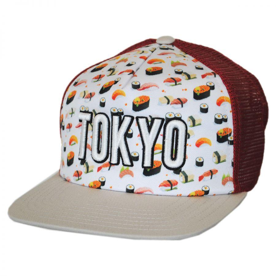 American Needle Tokyo Grub Trucker Snapback Baseball Cap Snapback Hats 552e51ea392