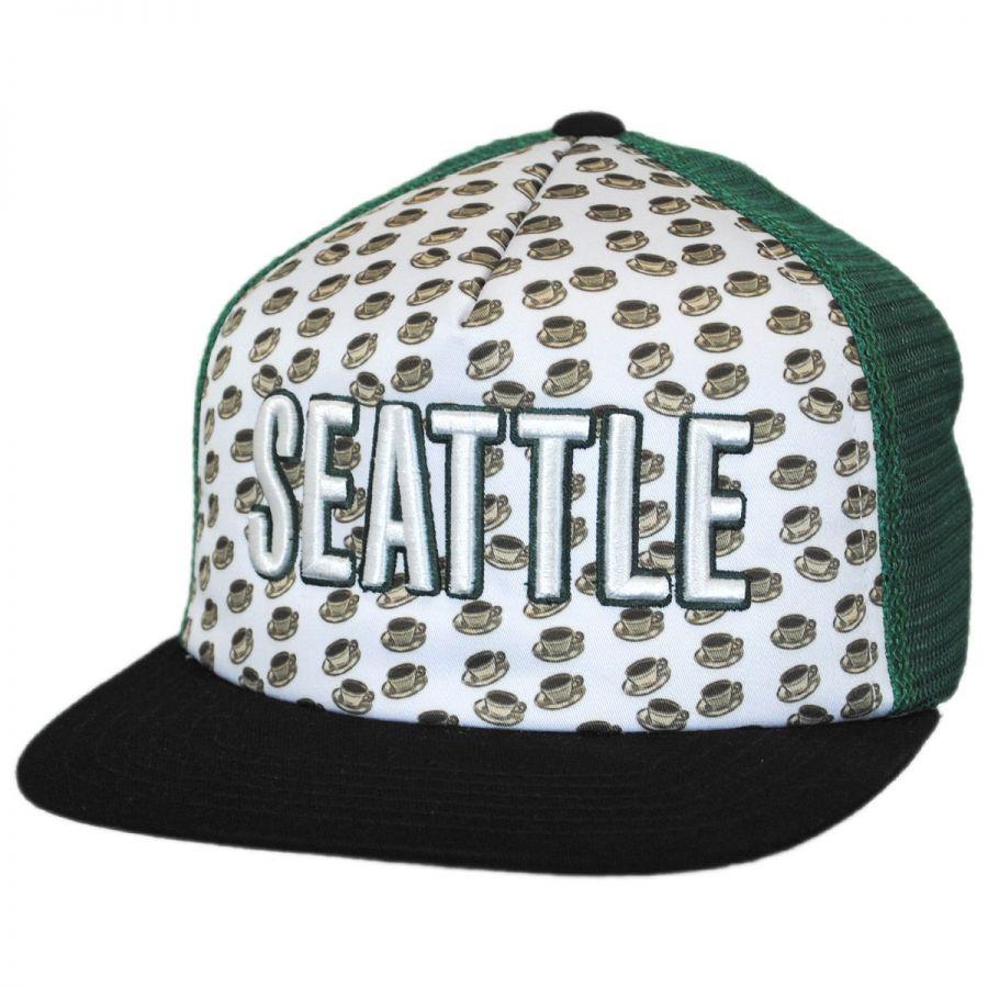 American Needle Seattle Grub Trucker Snapback Baseball Cap Snapback Hats 94f9f57585b