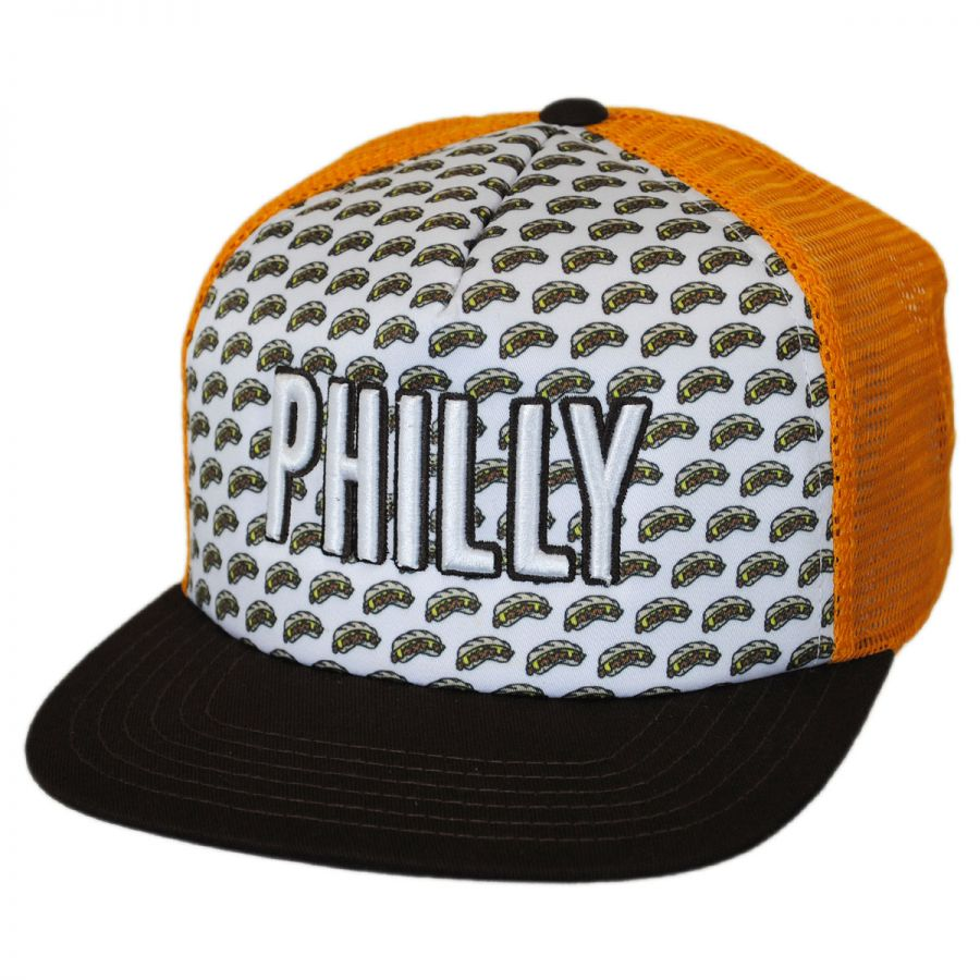 American Needle Philadelphia Grub Trucker Snapback Baseball Cap ... d23ad97f3e6