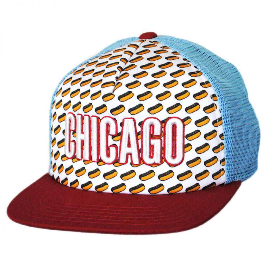 American Needle Chicago Grub Trucker Snapback Baseball Cap Snapback Hats dca4b4a2892