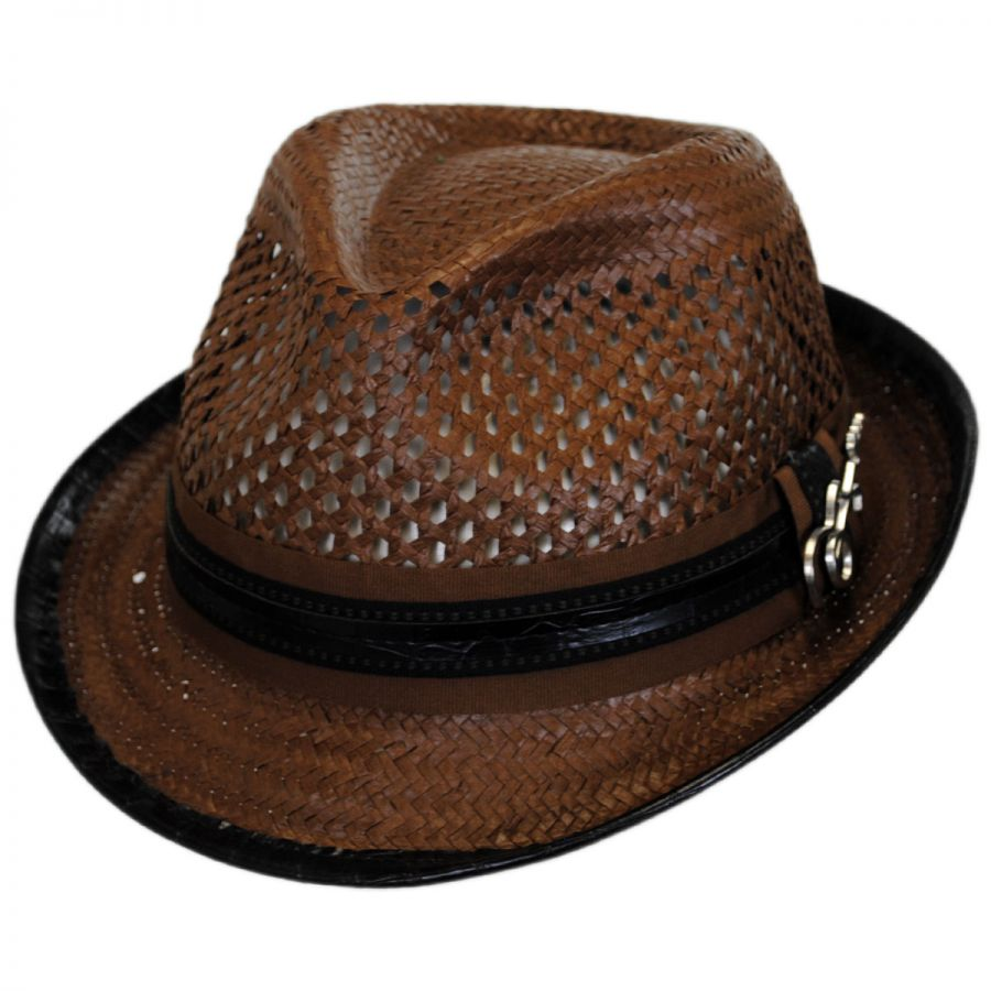 f6fc26b0b Mohican Toyo Straw Trilby Fedora Hat