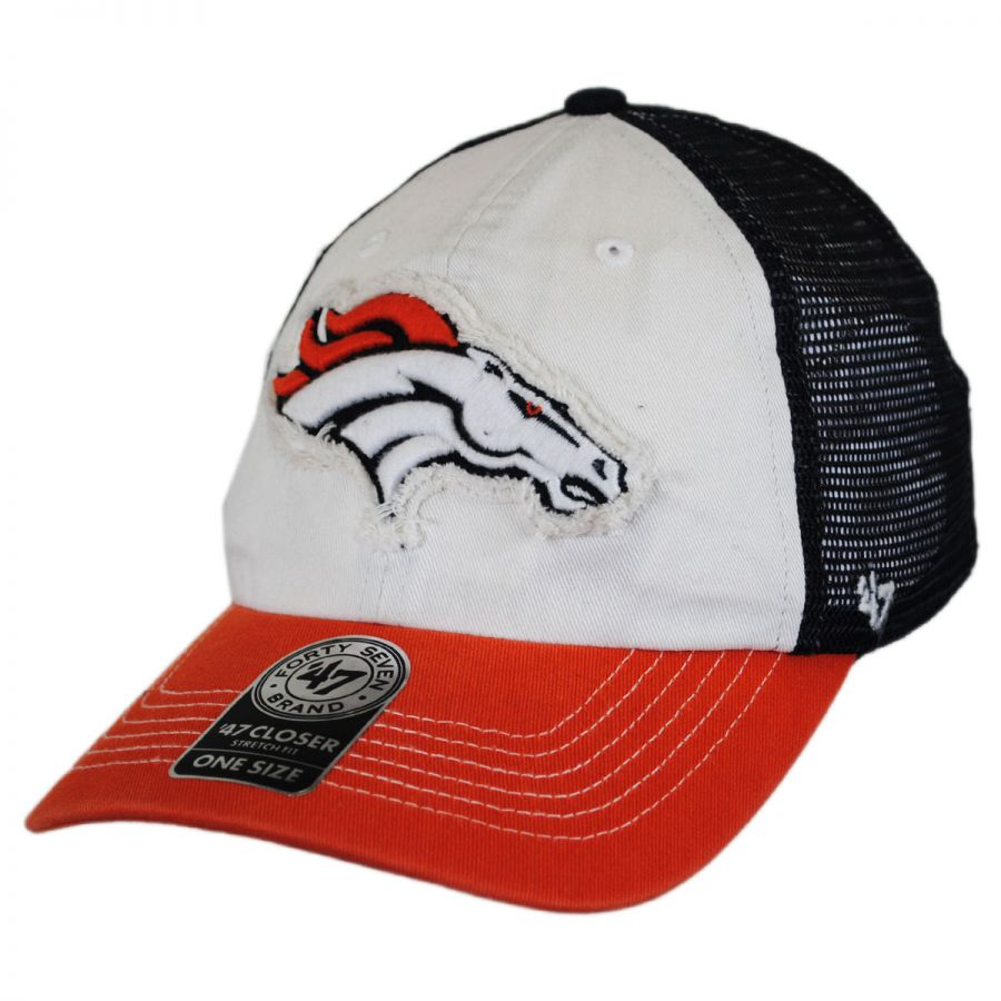 47 brand denver broncos nfl closer mesh baseball cap nfl