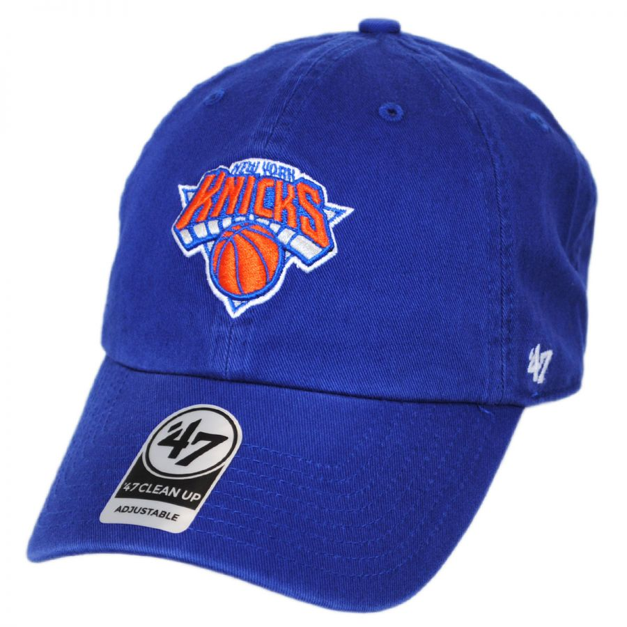 4890fcbacbc New York Knicks NBA Clean Up Strapback Baseball Cap Dad Hat alternate view 1