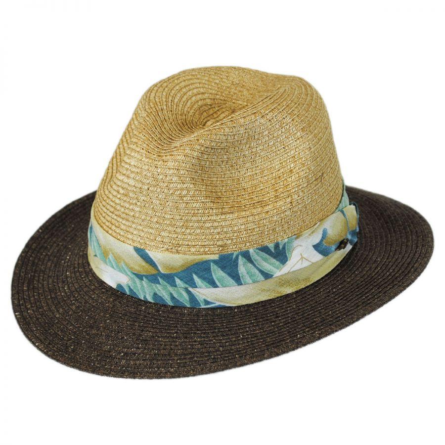 Tommy Bahama Tropical Band Toyo Straw Safari Fedora Hat Straw Fedoras 89458c131ee