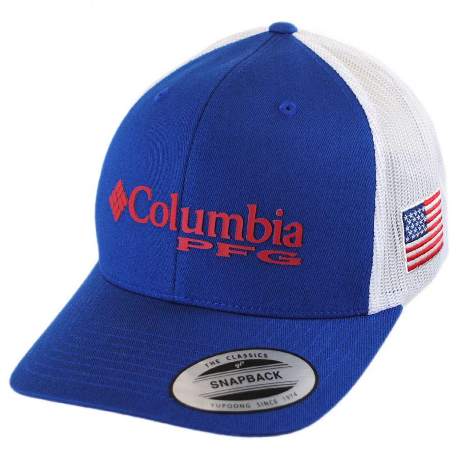 Columbia Sportswear PFG Mesh Trucker Snapback Baseball Cap Snapback Hats 44e9be1535e