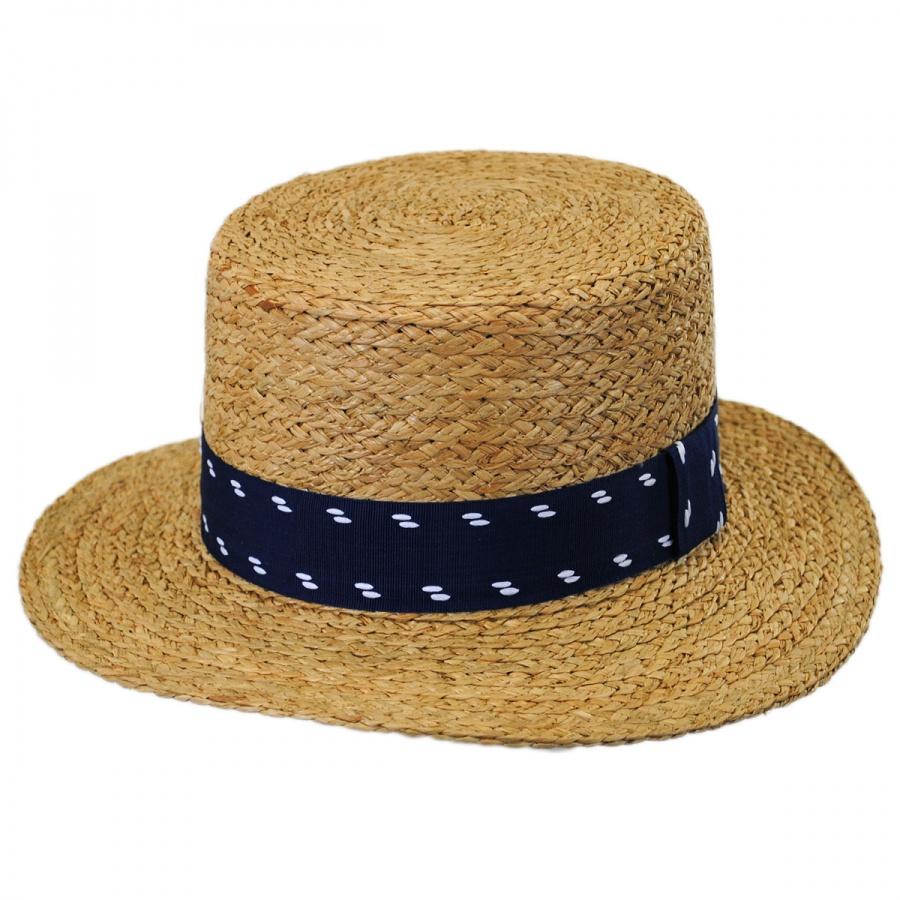 Brixton Hats Autumn Raffia Straw Boater Hat Straw Hats 68d38b83470