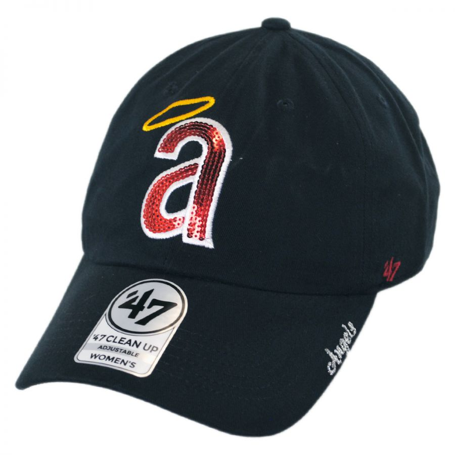 buy popular fa16f 38f94 47 Brand Los Angeles Angels of Anaheim MLB Sparkle Strapback Baseball Cap  Dad Hat