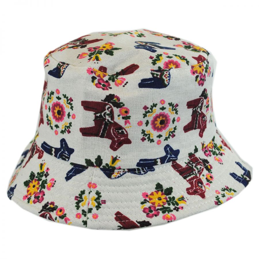 Jeanne Simmons Kids  Horses Cotton Bucket Hat Girls 6ae71a29c63