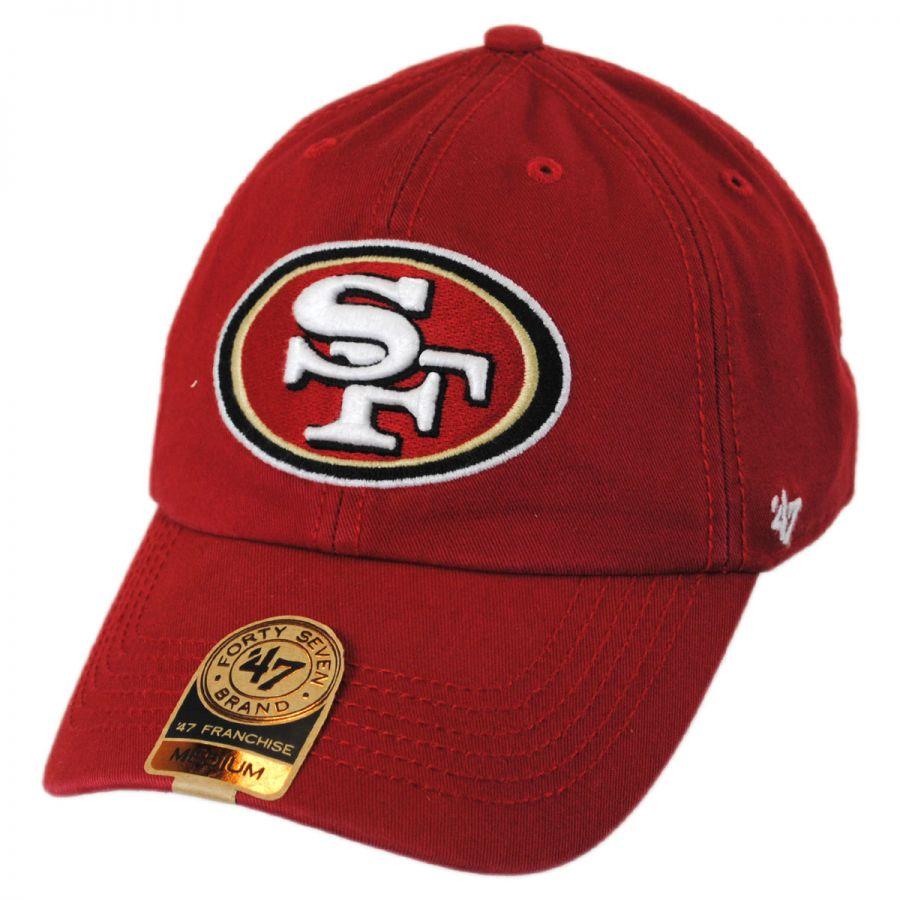 47 Brand San Francisco 49ers NFL Franchise Fitted Baseball Cap NFL ... b70f07af382