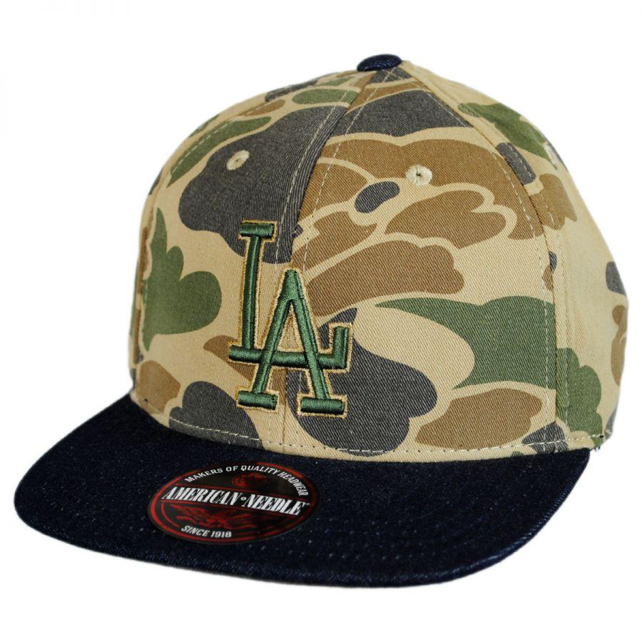 American Needle Los Angeles Dodgers MLB Dillon Strapback Baseball Cap Dad  Hat 4f5b4e376f4