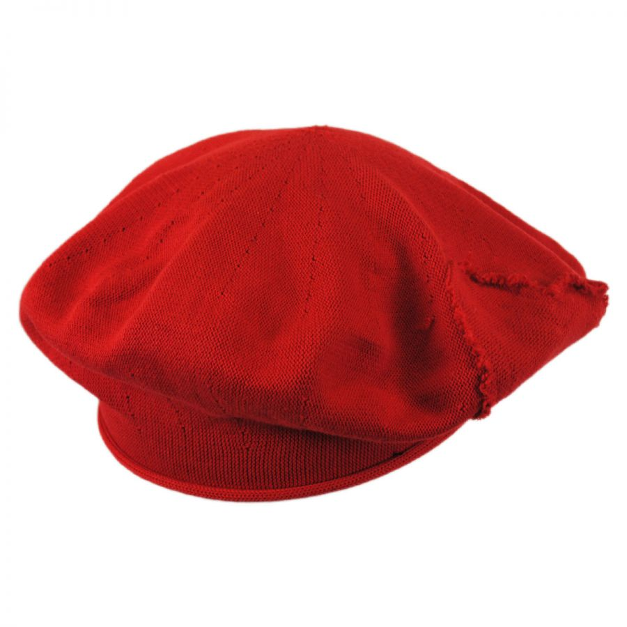 Parkhurst Heart Cotton Knit Beret Berets 1b98f82e83c7