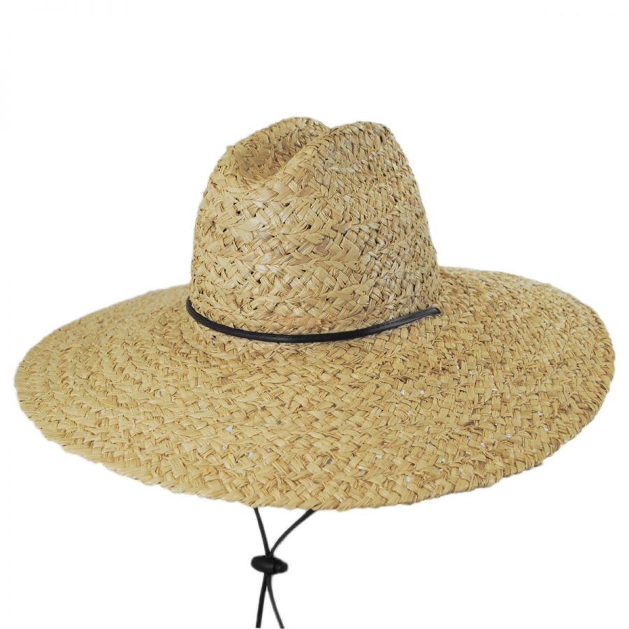 5adfa61713de2 Dorfman Pacific Company Organic Raffia Straw Lifeguard Hat Sun ...