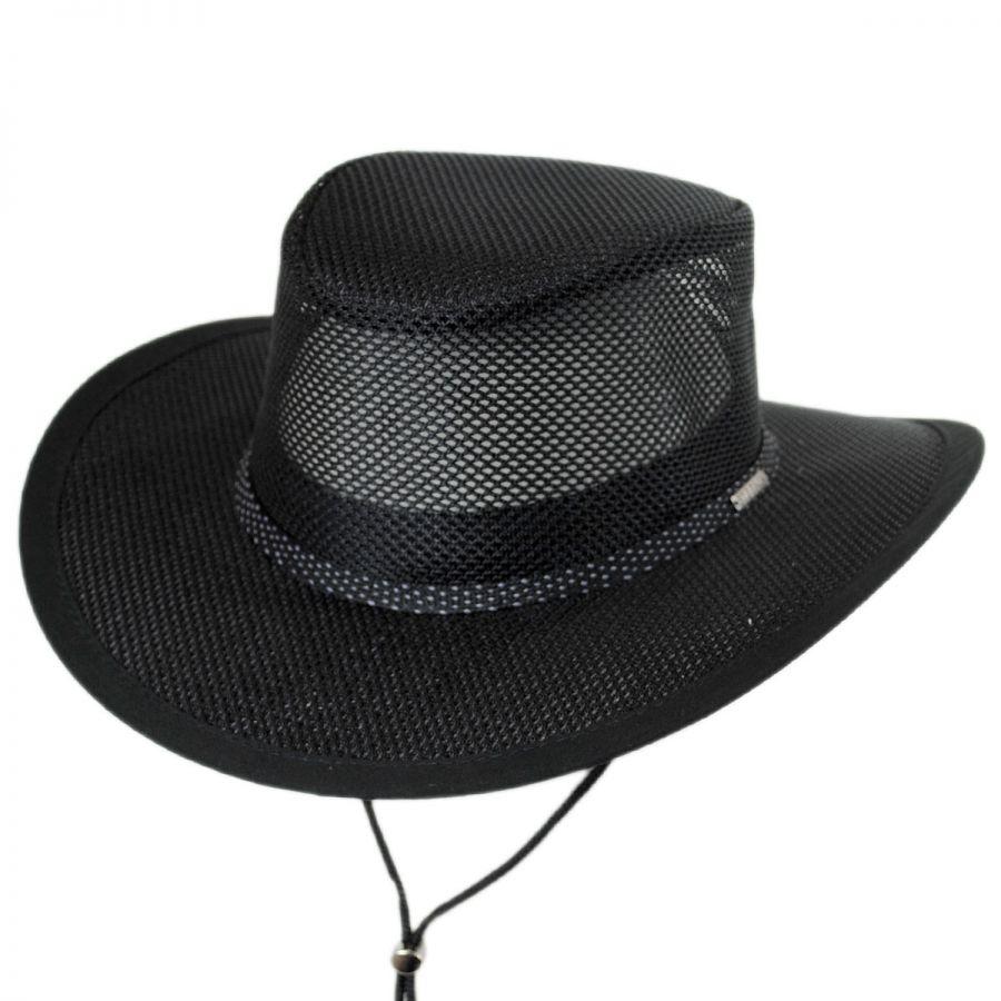 6795716fb6d793 Stetson Mesh Covered Soaker Safari Hat Sun Protection