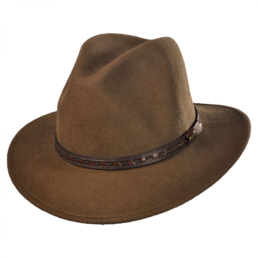 Traveler Wool Felt Safari Fedora Hat alternate view 3 8d87346412e