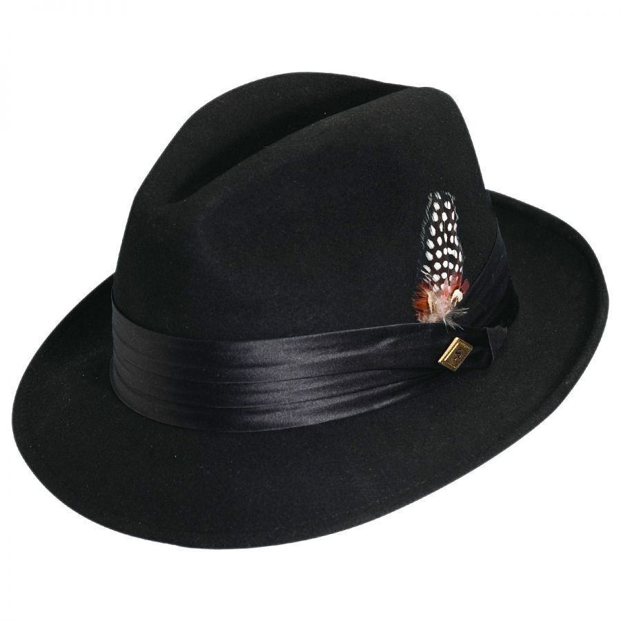 Stacy Adams Crushable Wool Felt Fedora Hat Crushable 766eabed378