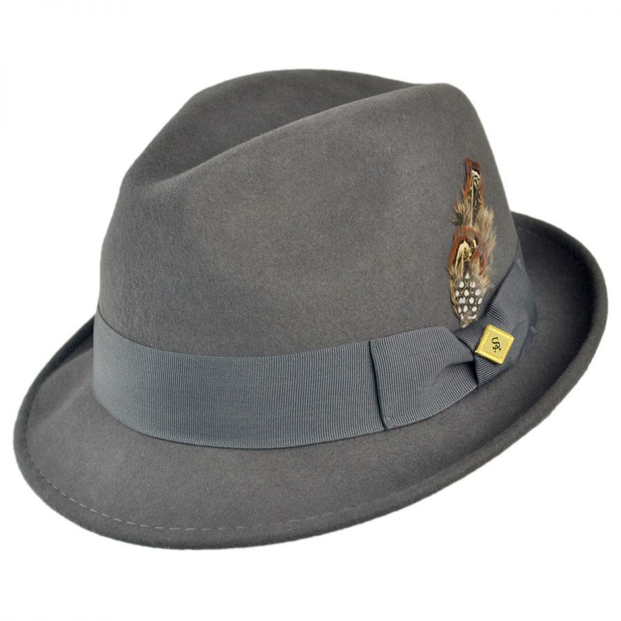 f1913386370 Stacy Adams Pinch Front Wool Felt Fedora Hat Crushable