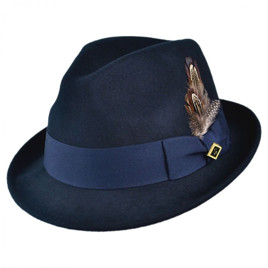 881ca99762b Pinch Front Wool Felt Fedora Hat alternate view 10 · Pinch Front Wool Felt  Fedora Hat in. Stacy Adams