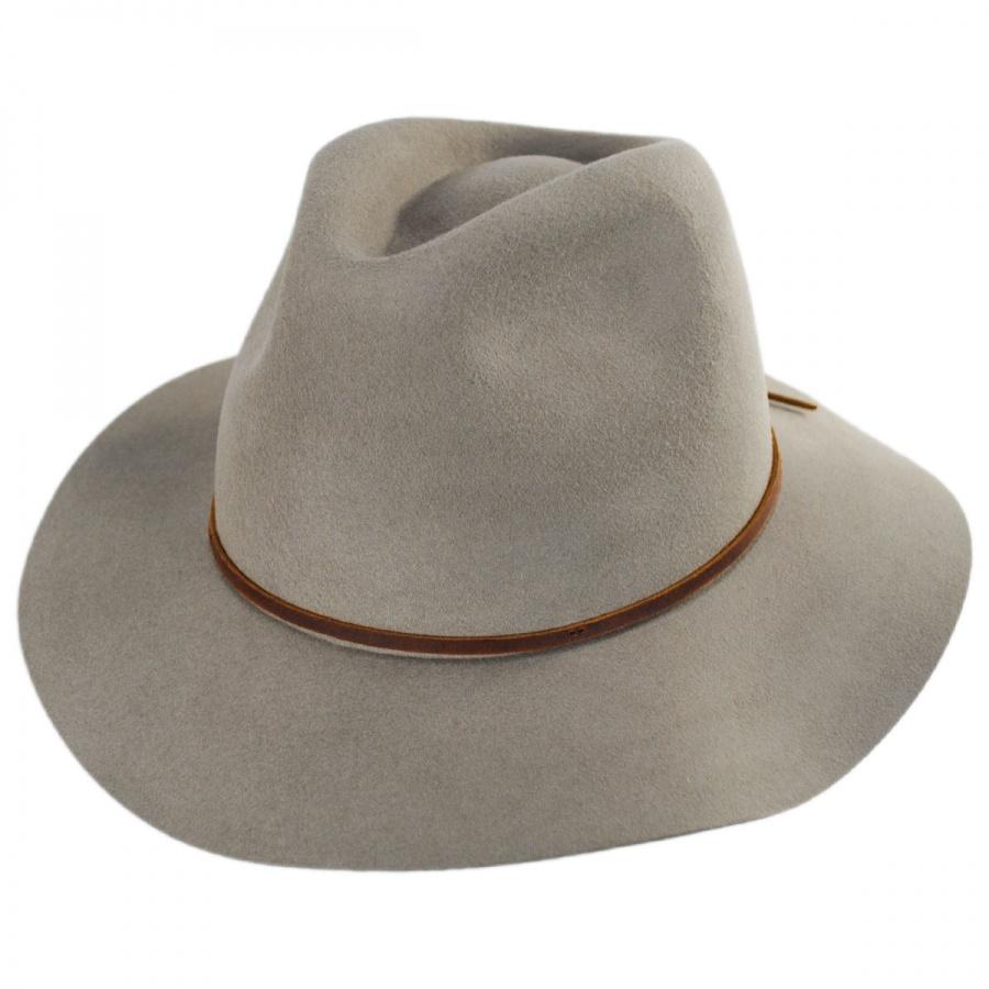 ea592bfef63bb Brixton Hats Wesley Wool Felt Floppy Fedora Hat Casual Hats