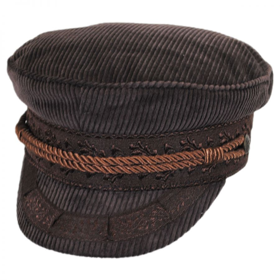 Fishermans Hat: Brixton Hats Albany Corduroy Fisherman's Cap Greek