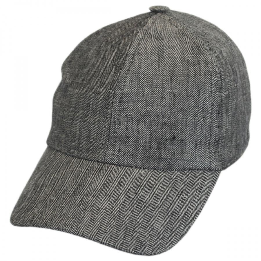 stetson herringbone linen fitted baseball cap fitted