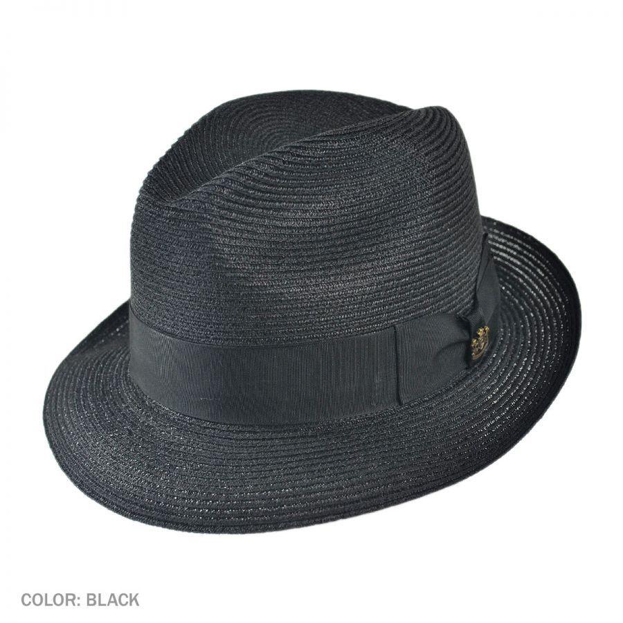 0a5e0eee Biltmore Charleston Hemp Straw Fedora Hat Straw Fedoras